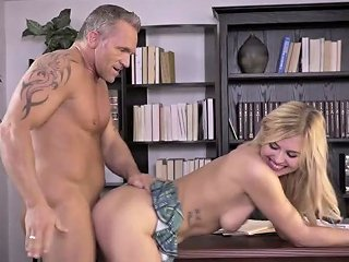 Wondrous Auburn Girl Is Bent Over The Table And She Needs Some Proper Fuck