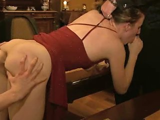 Brutal Fisting And Ass Caning Session For Two Submissive Chubby Whores