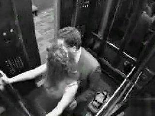 Public Doggystyle Fucking On Elevator Security Camera