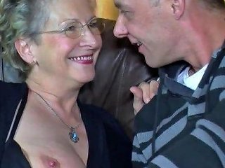 Mature Men With Old Girl Hot Sex In Sofa
