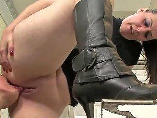 Submissive Slut Sucking Her Mistress's Pussy