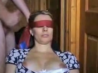 Blind Folded Wife Gets A Lot Of Jizz On Her Face Porn 55