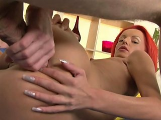 Svelte Bitch With Dyed Hair Barbie Ass Fucked By Her Eager Coed
