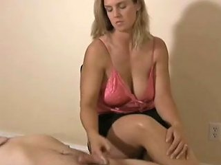 Beautiful Blonde With Juicy Tits Gives Me Tugjob