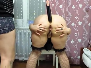 Guy Fucks His Aunt In The Ass With A Baseball Bat