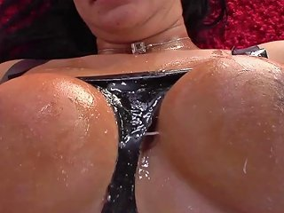 Tattooed Brunette Kitty Bella Gets Cum On Her Big Tits Af Any Porn