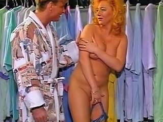 Passionate Redhead German MILF Seduced For Sex In The Changing Room