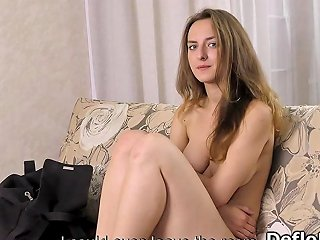 Shy Virgin Masturbates For The First Time