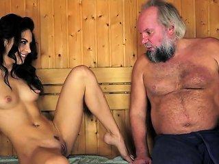 Latina Spunked By Old Man Drtuber
