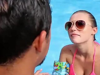 Blowjob Aloft She Would Rather Be Playing With The Bottle Of Sunscreen