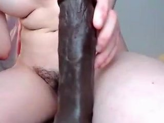 Freckled Babe Blows Huge Dildo Any Porn