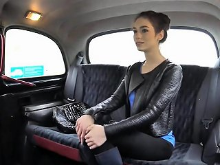 Pretty Passenger Pounded In The Taxi A For Free Fare