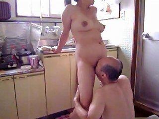 Japanese Milf At Kitchen Free Milf Kitchen Porn Video 13