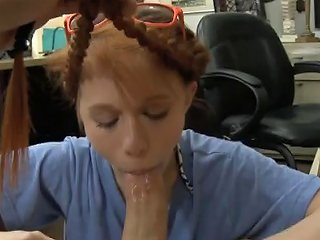 Redheaded Beauty Dolly Little Sucking Dick In Pawn Shop Porn Videos