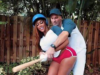 Baseball Player Bangs Huge Ass Ebony GF