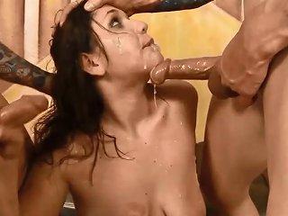 April Dawn Pukes As Cocks Fuck Her Throat Free Hd Porn 91