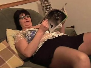 Mature Bbw In Short Skirt Rips Her Black Pantyhose Porn 9a