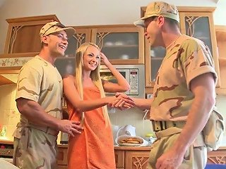 Ukrainian Babe Ivana Sugar Is Banged By Two Hot Blooded Soldiers