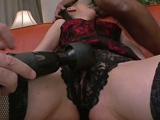 Ayumi Iwasa Gets Her Pussy Toyed Through The Lace Crotchless Panties