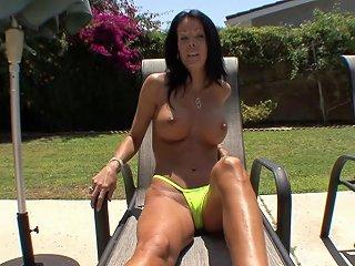 Tabitha Stevens Interrupts Her Sunbathing To Get A Nice Hard Fuck