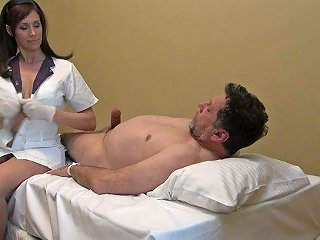 Blue Eyed Nurse Is By Patient's Side To Wank His Strong Fat Cock