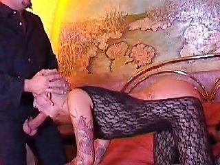 Tattooed Slut Gets Fucked By Hung Bald Guy On Bed Porn Bb