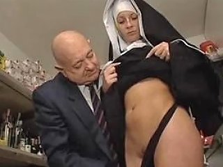 Hot Bodied Nun Gets Fondled By Perverted Old Man Porn F9