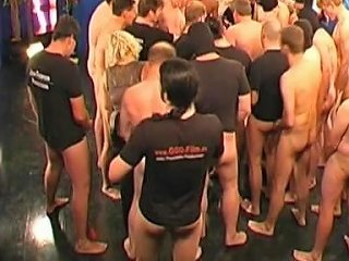 Mature Babe Nailed In Gang Bang Show