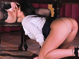 Penny Under The Desk Licking Karlee