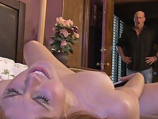 Attractive Nextdoor Chick Rose Red Is Fucked By Hot Blooded Bald Headed Stud