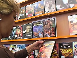 Sexy Blonde Mature Fucks Him In The Video Store Drtuber