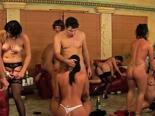 Noisy Hen Party Turns Into An Amazing Group Sex Orgy