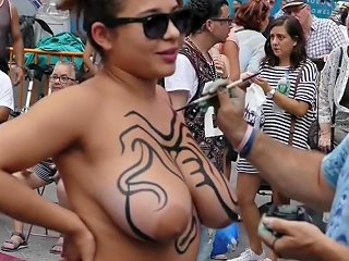 Body Painted Naked Public Show Txxx Com