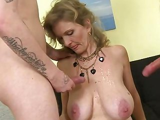 Adorable Mature Mom Cum Covered By Two Sons Free Porn 91