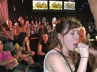 Milfs' Party In The Club Transforms Into A Wild Cock Sucking Action
