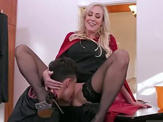 Russian Mom Gives Ass And Monster Cock Teen Blowjob Halloween Special