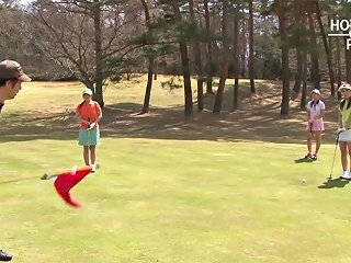 Asian Slut Takes It From Behind In A Golf Course Porn 62
