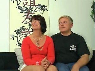 Naughty German Mom Takes It By 2 Guys On The Couch Porn 1e