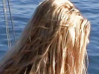 Beautiful Blonde With Great Tits Fucks Outside On A Boat