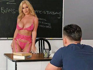 Mouth Watering Busty Teacher Savannah Bond Bangs One Of Her Handsome Students