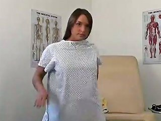 Eye Watering Hottie Lets Her Horny Gynecologist Examine Her Pussy