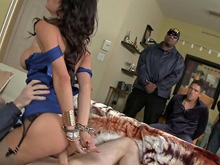 Handcuffed Brunette Will Do Anything For Her Freedom
