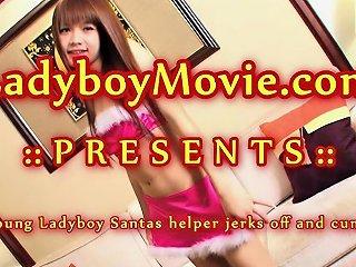 Ladyboy Santa's Helper