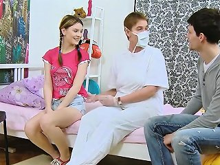 Physician Assists With Hymen Check Up And Defloration Of Vir