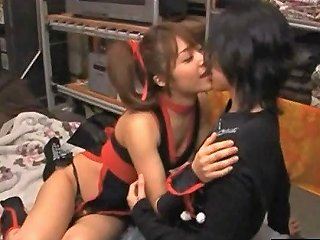 Japanese Babe Gets Pussy Fingered In This Cosplay Scene