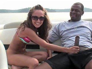 Adana Gets Fucked By A Horny Black Dude On A Yacht