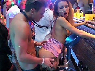 Sexy Airline Stewardesses Are Having A Noisy Club Sex Party