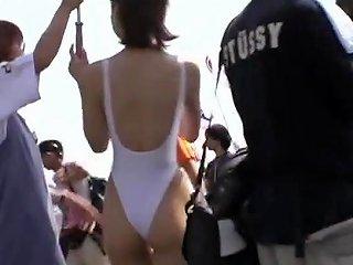 Japanese Racequeen White Leotard 4 Free Porn 0a Xhamster