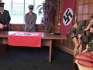 Nazi Chicks Get Fucked In The Office Of Their Commanding Officer