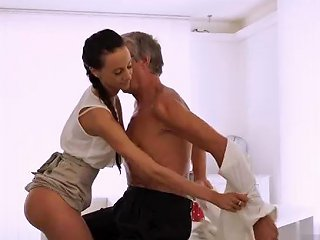 Old Men And Girl Finally She's Got Her Manager Dick